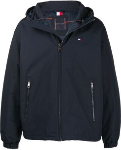 hooded puffer jacket - Blue