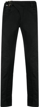 mid rise slim fit jeans - Black