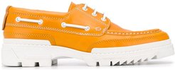 tractor sole boat shoes - Yellow