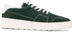 logo patch low-top sneakers - Green