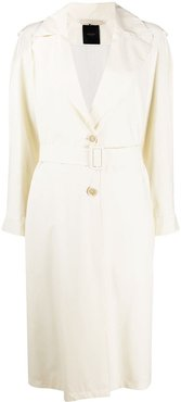 Eternals belted trench coat - White