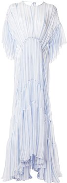 Louis striped tiered gown - Blue