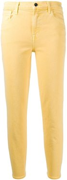 Ruby cropped straight-leg jeans - Yellow