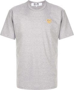 embroidered logo T-shirt - Grey