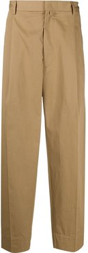 loose fit tailored trousers - Brown