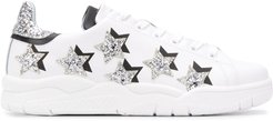 Roger Star Glitter low-top sneakers - White