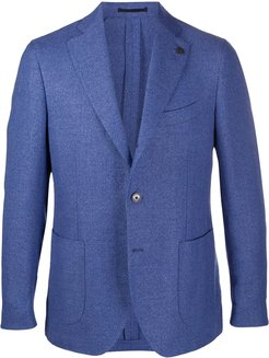 fitted double breasted blazer - Blue