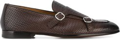 woven monk shoes - Brown