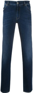 mid-rise slim-fit jeans - Blue