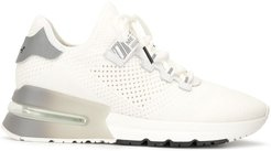 open knit platform sole trainers - White
