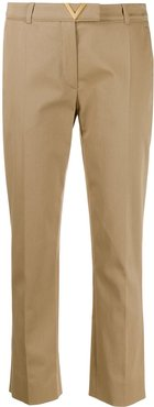 VGOLD cropped tailored trousers - NEUTRALS