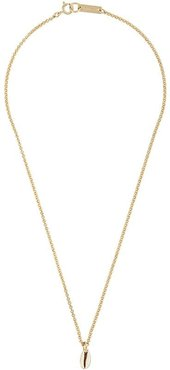 Amer shell-pendant necklace - GOLD