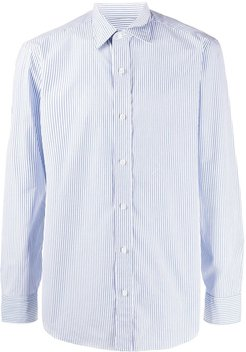 striped slim-fit shirt - White