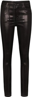 Maria faux leather skinny trousers - Black