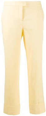 cropped tailored trousers - Yellow