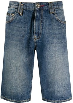 Bermuda faded jean shorts - Blue
