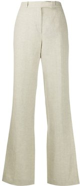 textured front pleated trousers - Neutrals