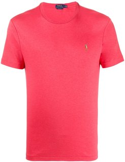 embroidered logo crew-neck T-shirt