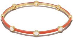 18kt yellow gold Lollipop Carnevale 8-Stone bangle - ORANGE