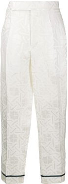high rise trousers - White