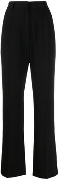 high-waist tailored trousers - Black