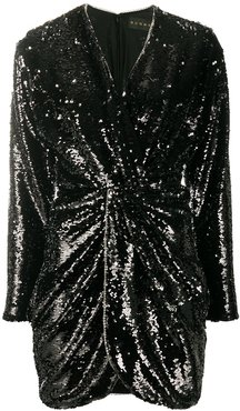 twisted sequin dress - Black