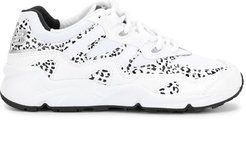 850 leopard print sneakers - White