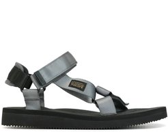 strappy flat sandals - Black