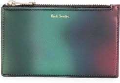 metallic-ombré coin wallet - Green