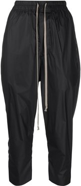 cropped drawstring trousers - Black