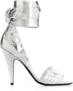 ankle strap high-heeled sandals - SILVER
