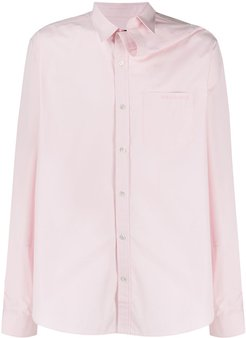 plain logo button shirt - PINK