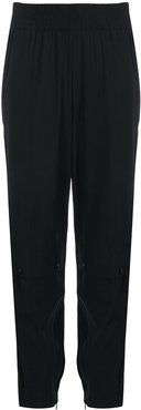 ruched waistband joggers - Black