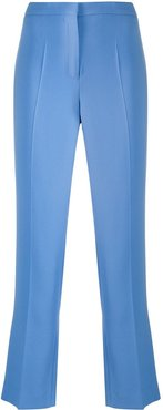 cropped bootcut stretch trousers - Blue