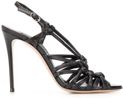 strappy 110mm ring sandals - Black