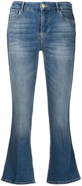 mid-rise flared jeans - Blue