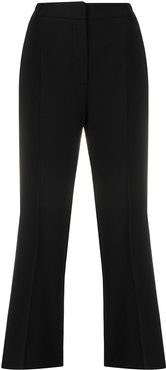 cropped bootcut trousers - Black