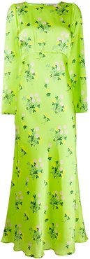 Jane floral maxi dress - Green