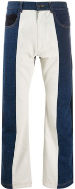 panelled wide-leg jeans - Blue