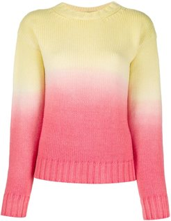 Wave Life ombré knit jumper - Yellow