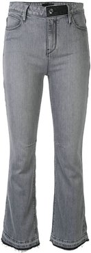 mid rise bootcut jeans - Grey