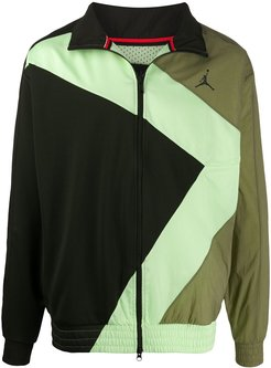 panelled sports jacket - Green