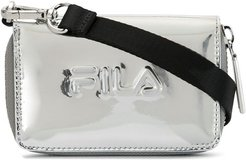 logo embossed wallet - SILVER