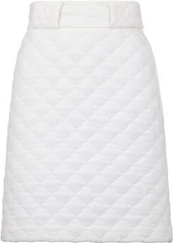 quilted high-waisted skirt - White