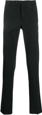 slim-fit tailored trousers - Black