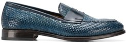 woven classic loafers - Blue