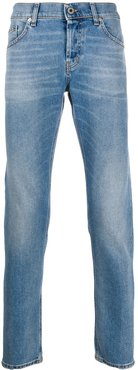 denim straight leg jeans - Blue