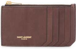 Fragments zipped cardholder - Brown