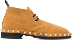 stud detail boat shoes - Brown