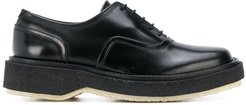 chunky sole oxfords - Black